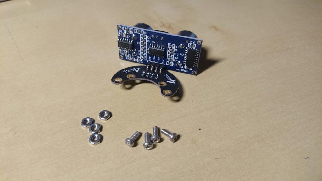 ビットボットの超音波センサーの取り付け